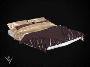3D bedclothes bed model