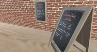 menu chalk board 3D