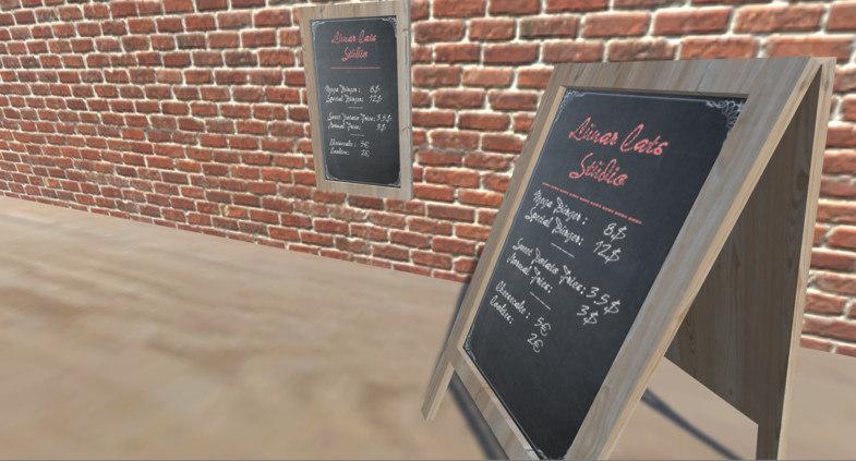 menu chalk board 3D