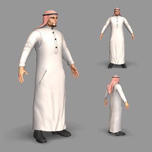3D arab man model