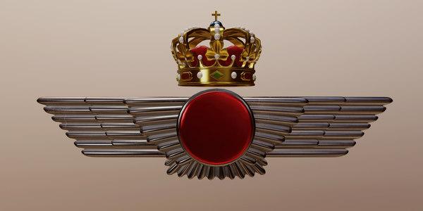 3D spanish air force emblem