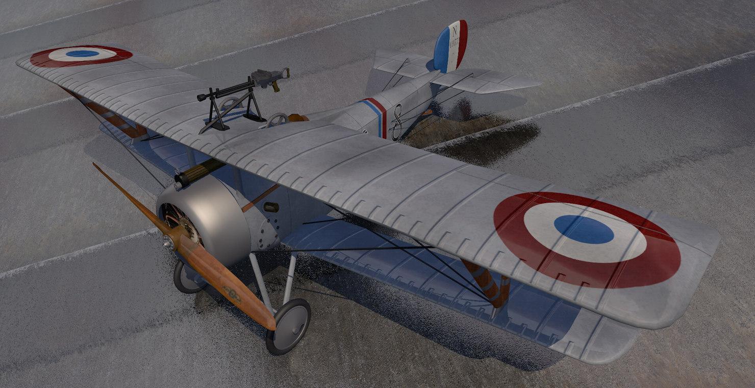 plane nieuport 17 3D