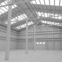3D model scene warehouse interior 2