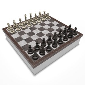 chess games 3D model