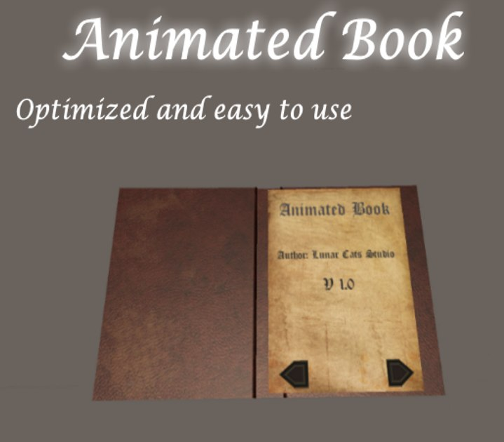 3D book animation model