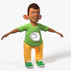 boy cartoon 3D