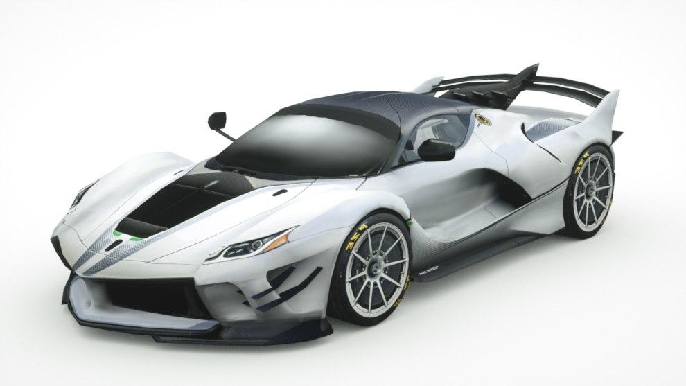 3D generic supercars car