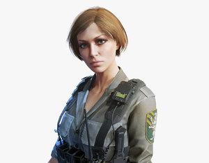 army girl 3D model