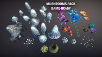 mushrooms 3D