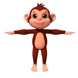 cartoon monkey 3D model