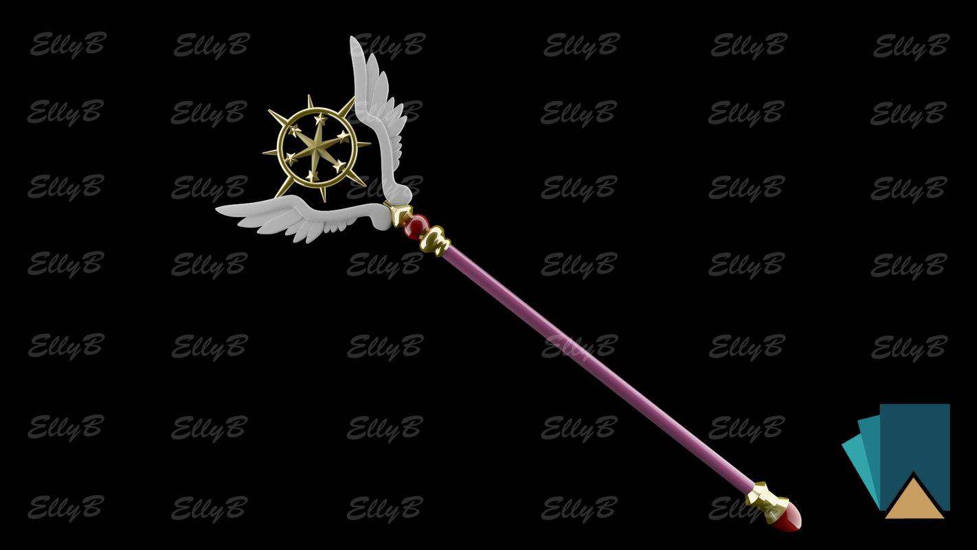 3D card sakura scepter model