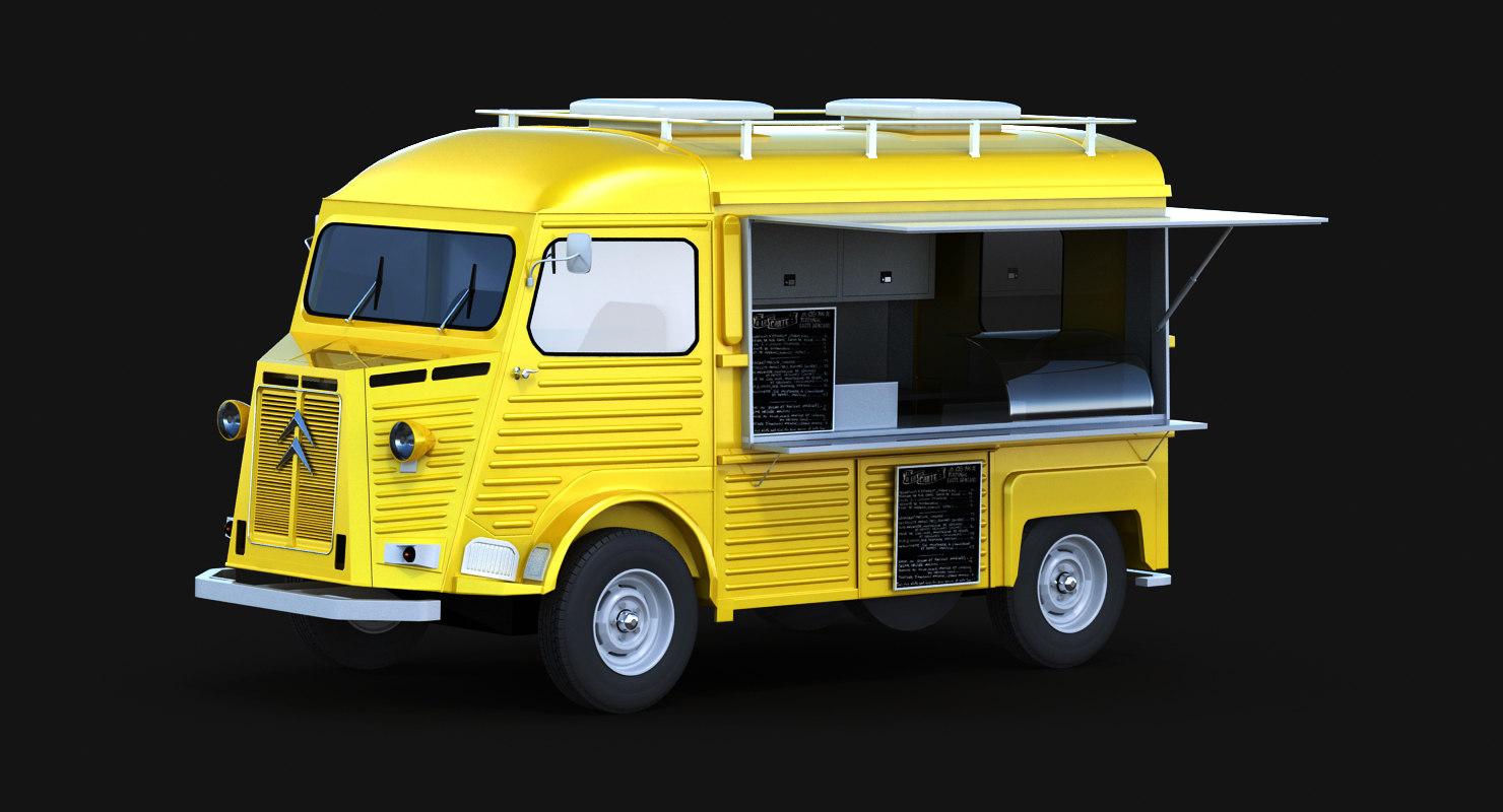 3D hy food street model