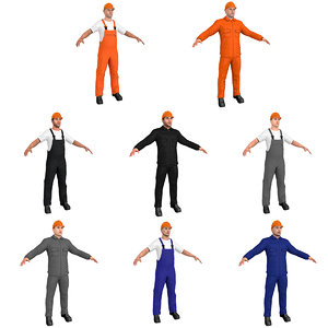 3D model pack workers