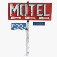 3D motel sign model