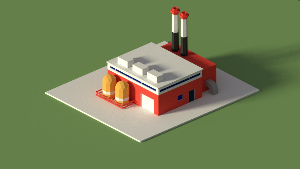 cartoon factory 3D