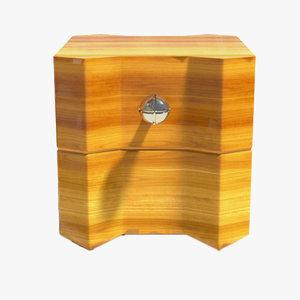 wooden nightstand x 3D
