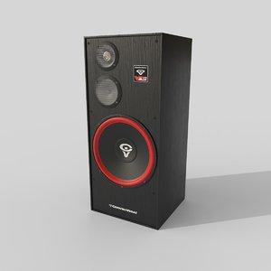 3D loudspeakers model