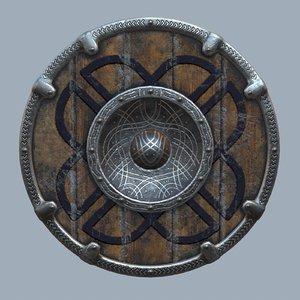3D viking shield model