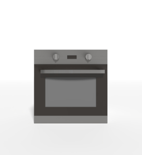 pbr kitchen oven 3D model