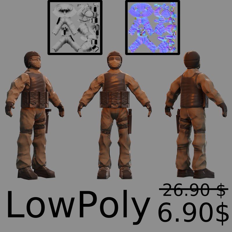 character soldier 3D model