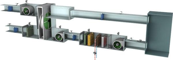 fahu fresh air handling 3D model