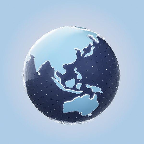 electron earth 3D model