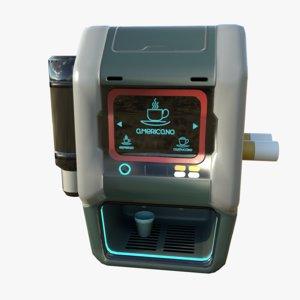 3D sci-fi coffee machine