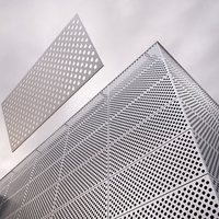 3D architectural perforated metal model