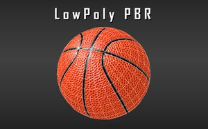 basketball pbr low-poly vr 3D model