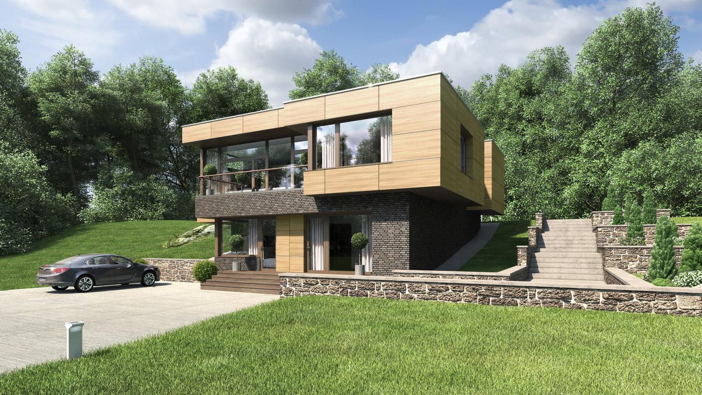 2 hitech hill house architecture 3D model