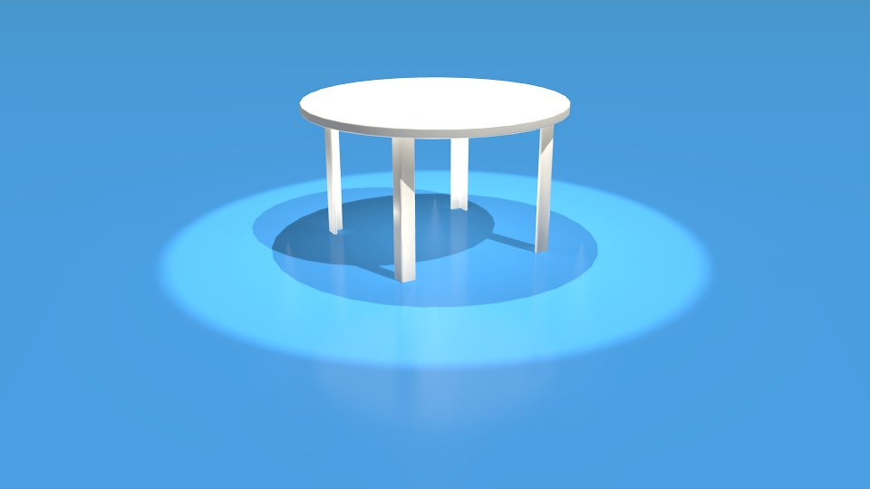 plastic table 3D