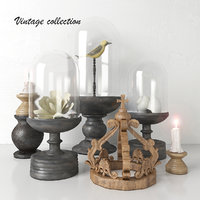 vintage decorative set - 3D