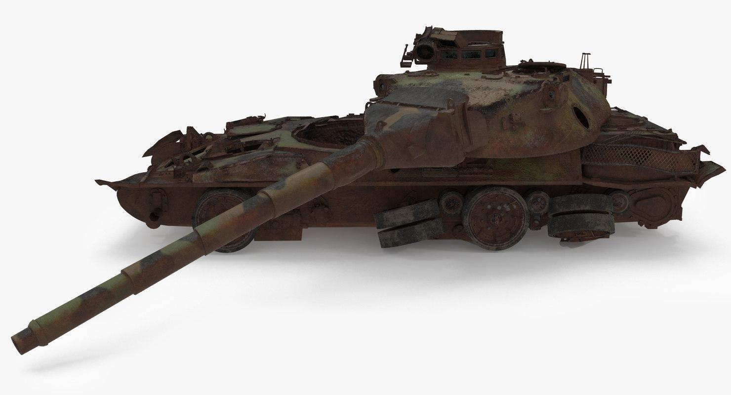 3D tank wreck model