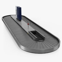 3D baggage carousel model