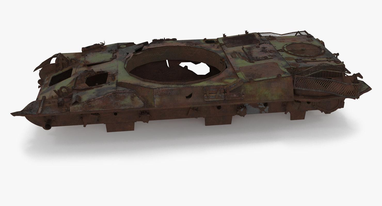 tank damage 3D model