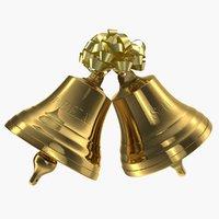 3D xmas bells