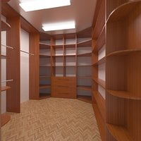 cupboard hallway pantry 3D model