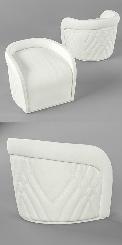 3D model afef pouf