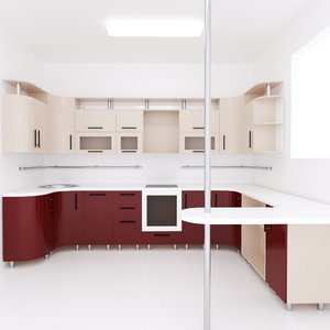 cupboard kitchen model