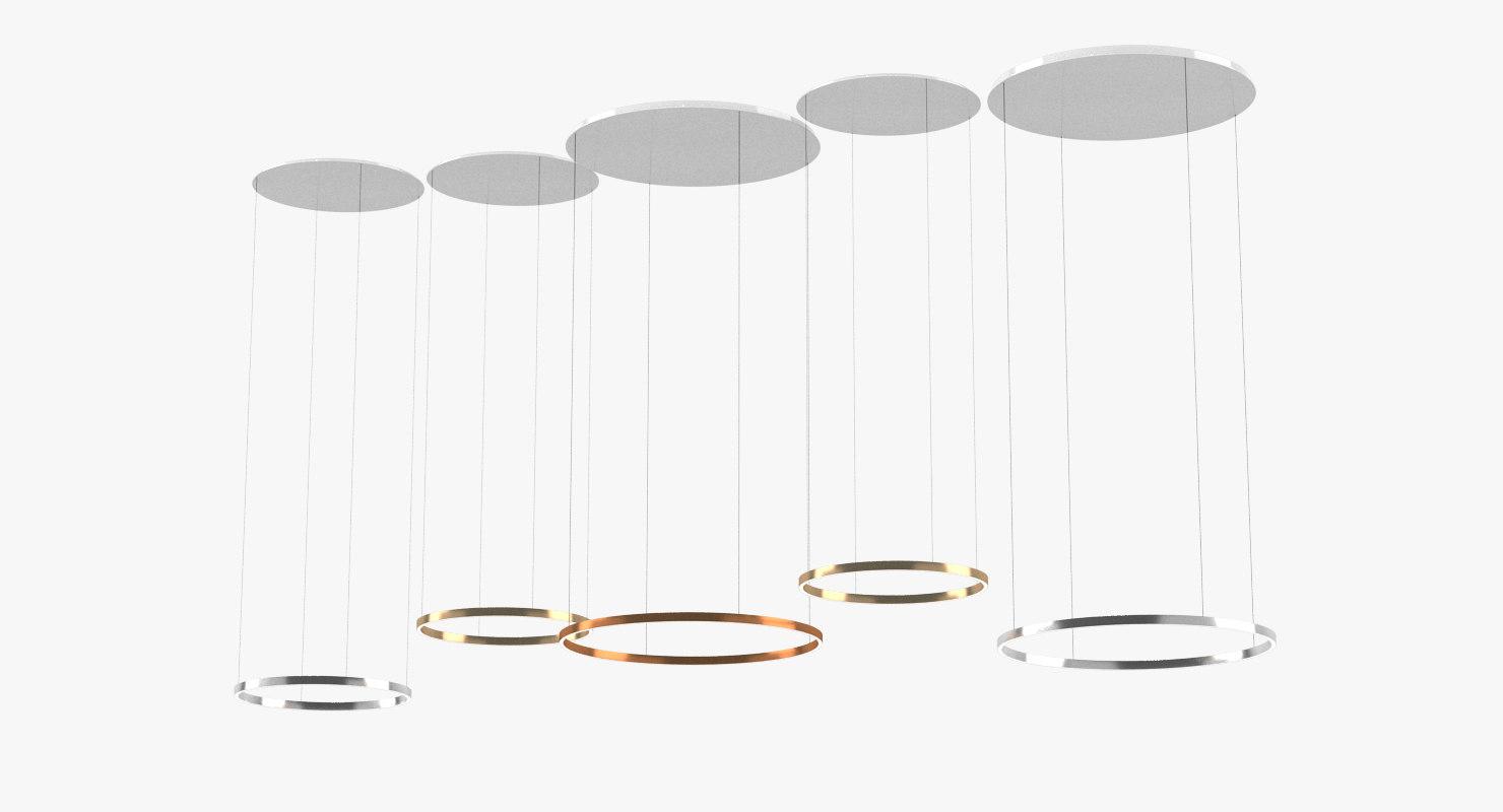 occhio mito ceiling lamp 3D model