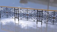 3D pattern vintage forged fence model