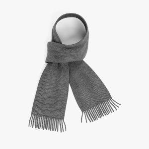 winter scarf 3D model