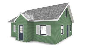 3D bungalow house
