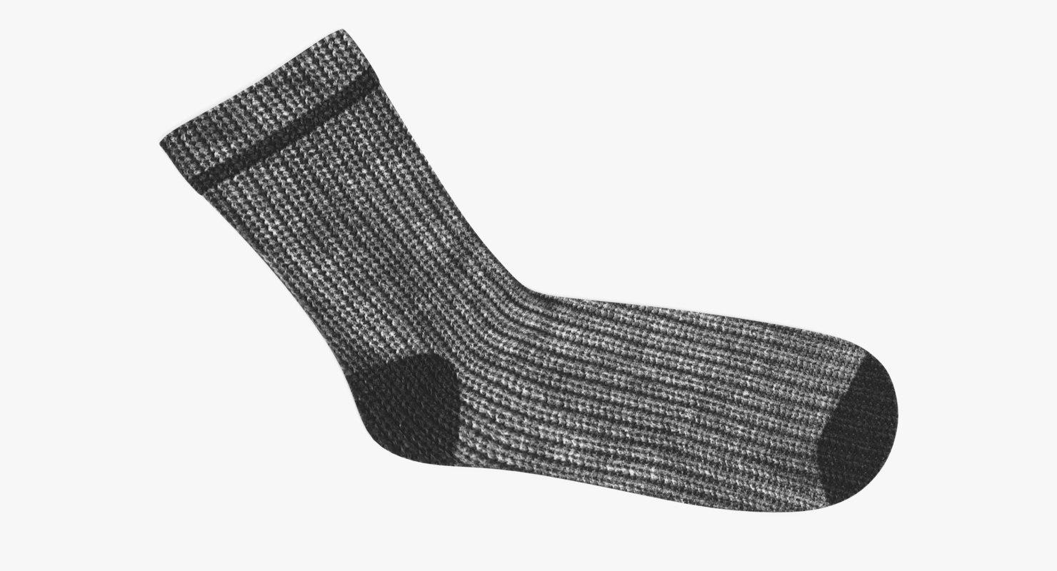 3D winter sock