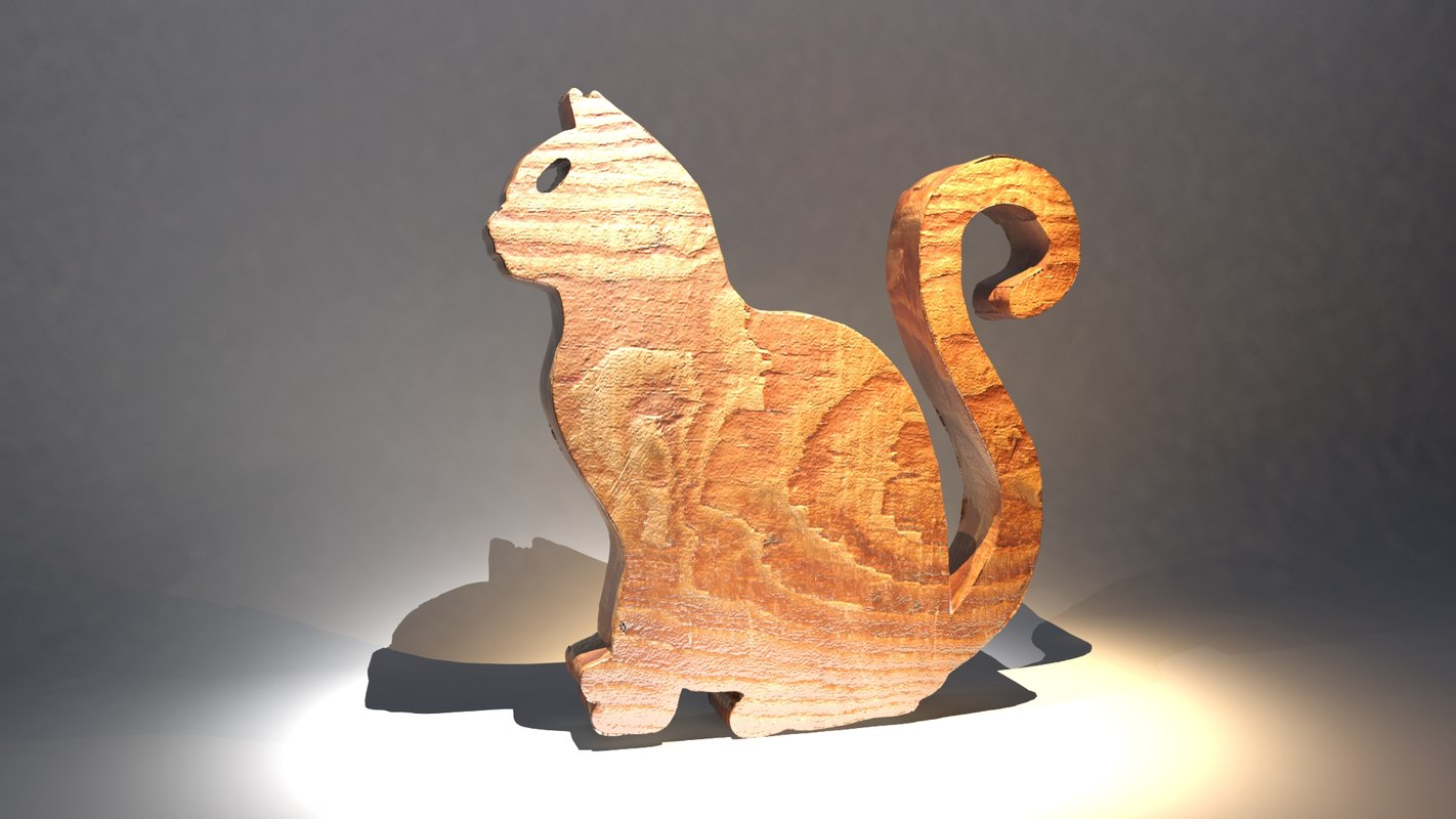 cat decoration 3D