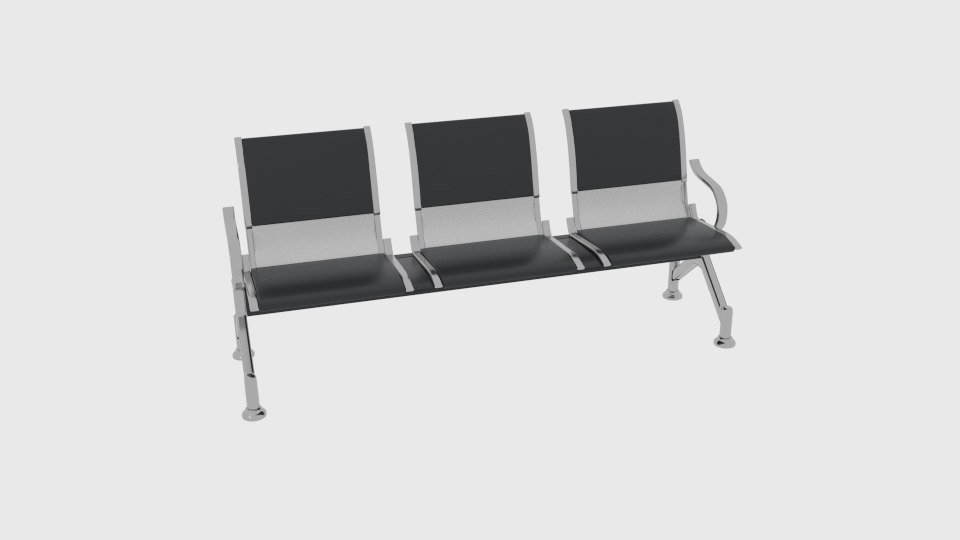 3D waiting lounge chairs