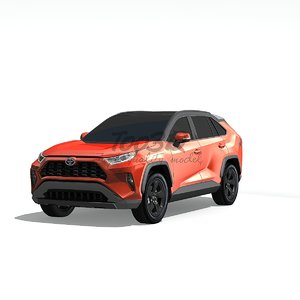 3D rav 4 model