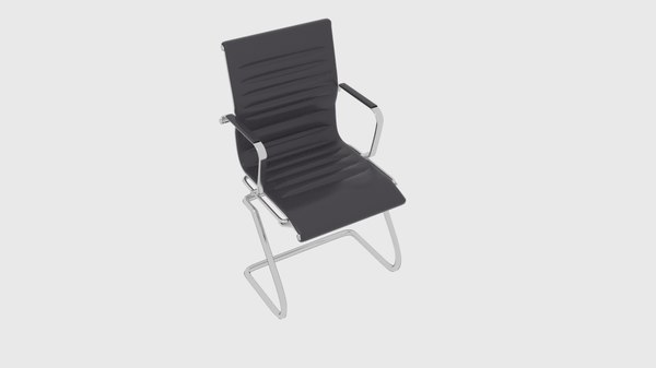 3D model leather waiting chair 3015cs17