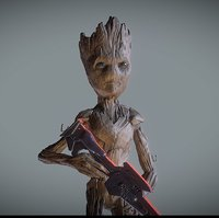 inspirited teenage groot figures 3D model