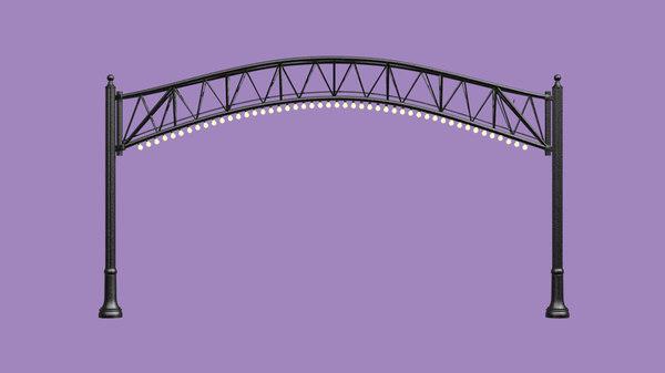 3D street arch lights model